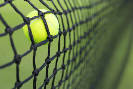 missed: Tennis ball in the net