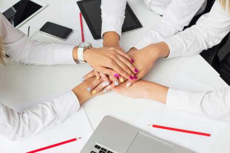 Business team of three women