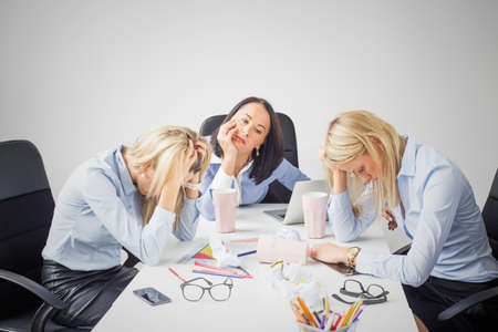 stressed business woman: Depressed business women
