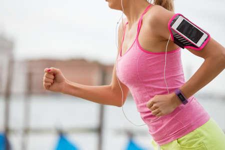 wellbeing: Woman running