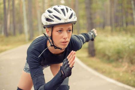 rollerskating: Woman roller skating