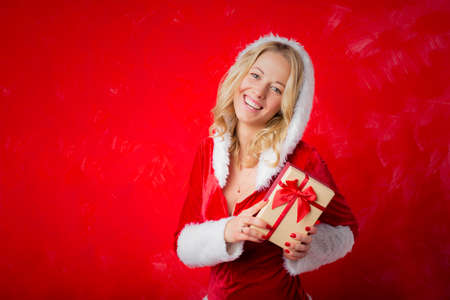 christmas costume: Woman in Christmas costume