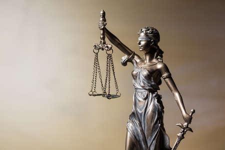 estatua de la justicia: Primer plano de la figura Themis