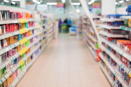 corredor do supermercado Imagens