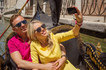 selfy: Couple taking selfy on their vacation