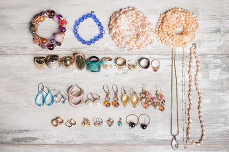 earrings: Organized set  of jewelry
