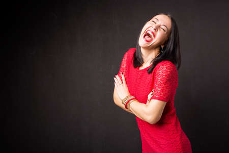 Femme heureuse rire