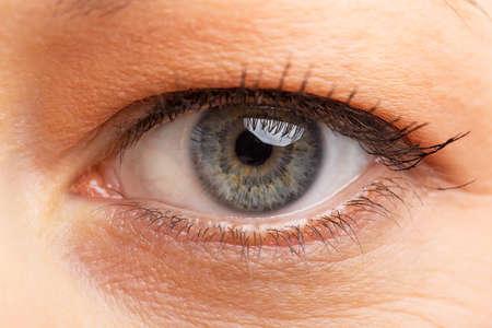 macro photo: Human eye Stock Photo