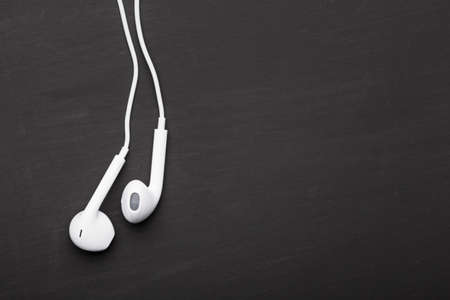 design objects: Headphones for music listening Stock Photo
