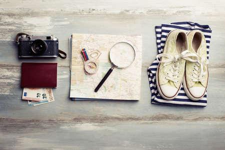 Viajar kit para turistas Foto de archivo
