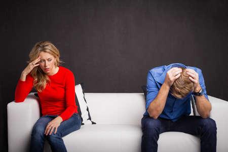 Paar dat problemen in hun relatie