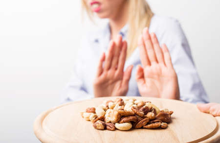 Allergies aux noix Banque d'images - 54246236