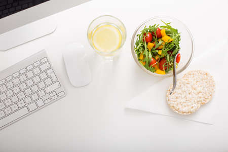 Healthy lifestyle at office Stockfoto