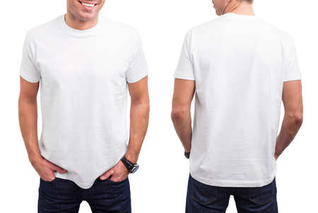 t shirt model: Mans white T-shirt