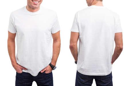 T-shirt branco do homem Imagens