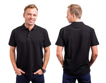 Man in black button up shirt Archivio Fotografico