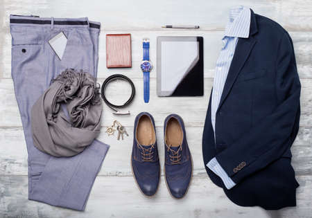 photo of accessories: Set of mans fashion and accessories