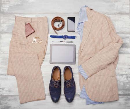 moda ropa: artículos y accesorios de moda masculina Foto de archivo