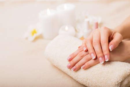 Beautiful French manicure Stock fotó - 54248261