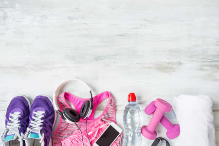 objects: Objects for workout Stock Photo