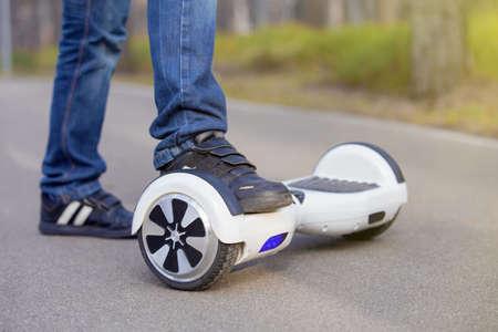 Elektrische scooter buitenshuis
