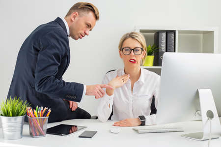 bad behavior: Employee being annoyed by her boss