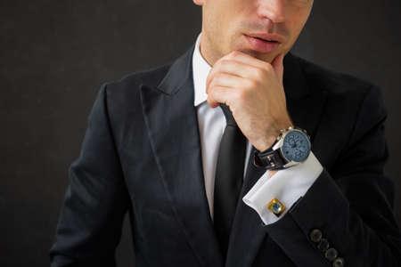 Business man with fancy wrist watch