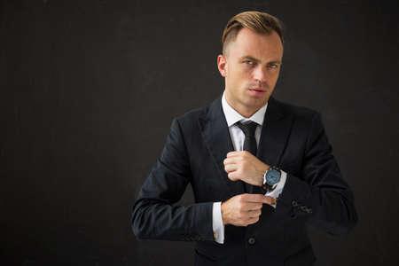 potrait: Potrait of handsome business man Stock Photo