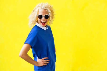 Portrait of funky woman Foto de archivo