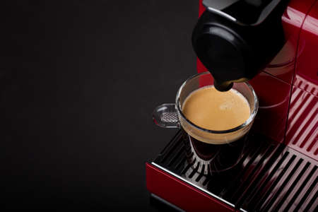 espresso machine: Cup of freshly brewed coffee