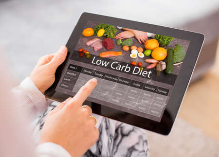 weight loss plan: Low Carb Diet Stock Photo