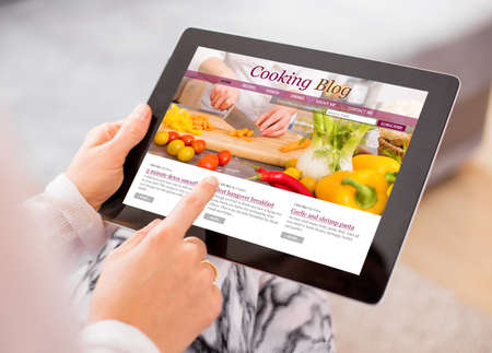 blogger: Cooking blog on tablet