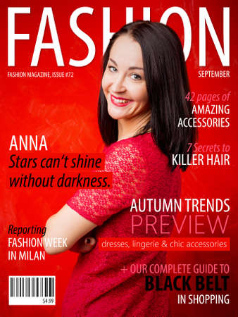 cover girls: Sample fashion magazine cover Stock Photo
