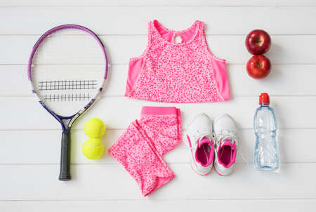 Little girl's sports equipment
