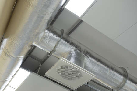 cleaning service: Air conditioning system attched to ceiling