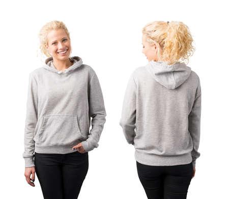 Gray pullover hoodie mockup
