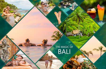 Collage van foto's van het prachtige eiland Bali in Indonesië