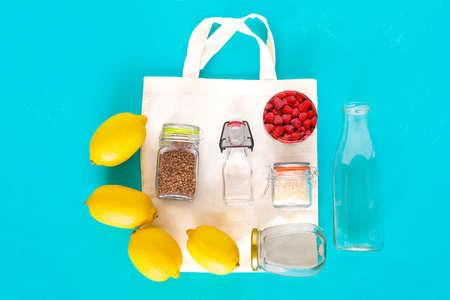 Zero waste shopping concept.