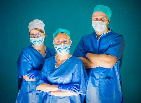 Team of three doctors