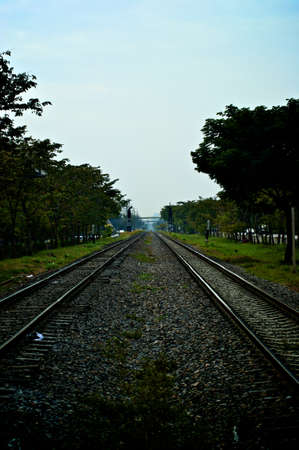 two way: Two way railway Stock Photo