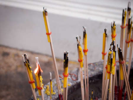 Pray candle at a temple.