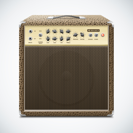 guitar amplifier: Guitar Amplifier Illustration Illustration