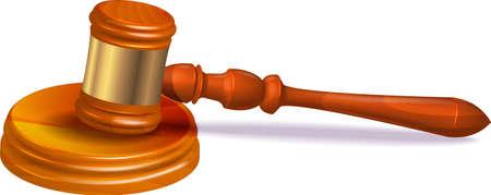Judge hammer on white background