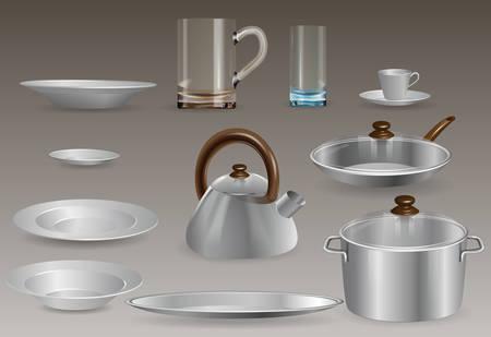 A set of kitchen utensils.