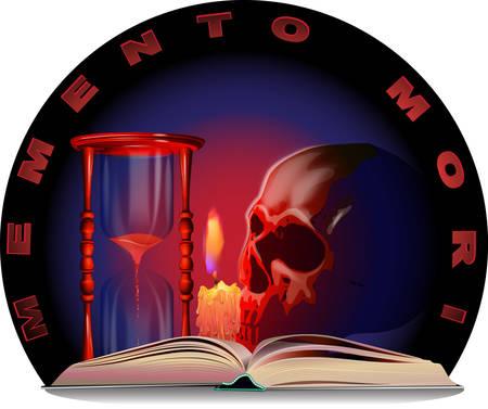 Vector image of Memento Mori.
