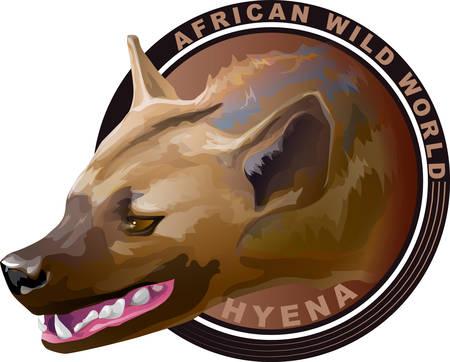 African predatory animal is hyena Illustration