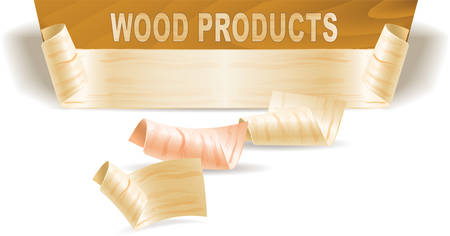 Wood shavings and wood texture