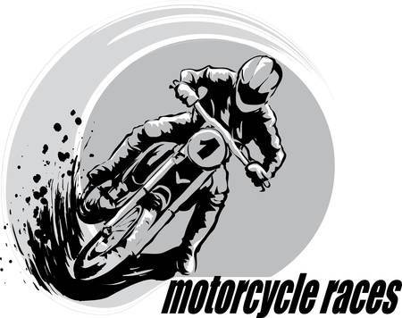 Motorcyclist in races