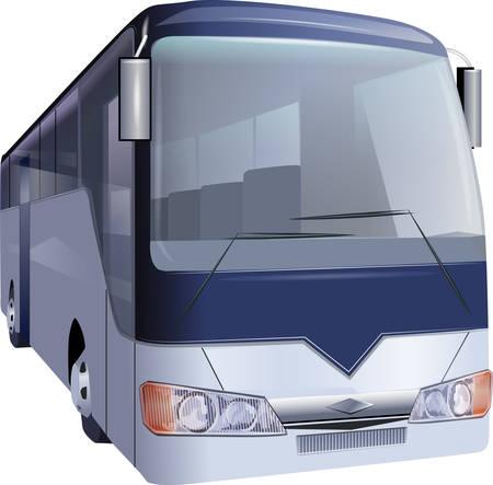 Bus on white background  イラスト・ベクター素材