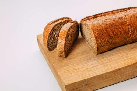 Gluten free homemade bread. Healthy food. Gluten-free whole grain rye bread sliced. Stok Fotoğraf